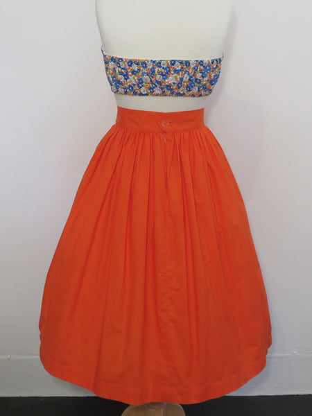 Skirt in Orange Cotton
