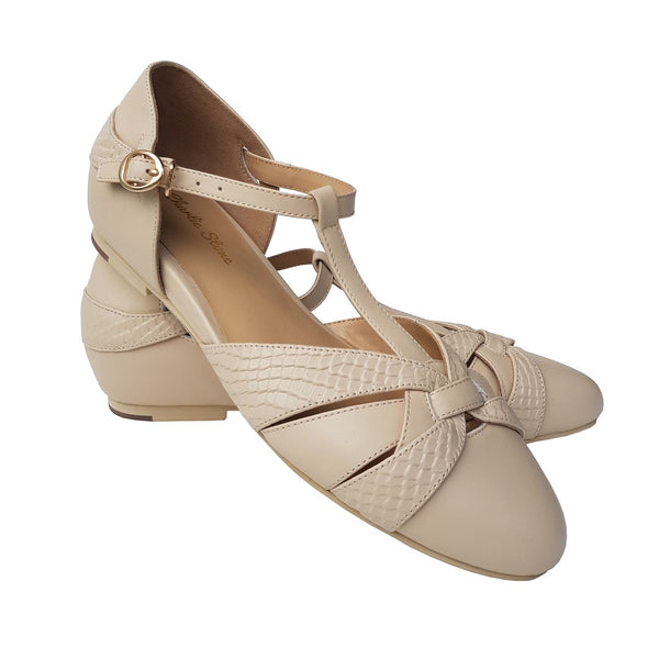 Charlie Stone Shoes-Peta Cream - Flats