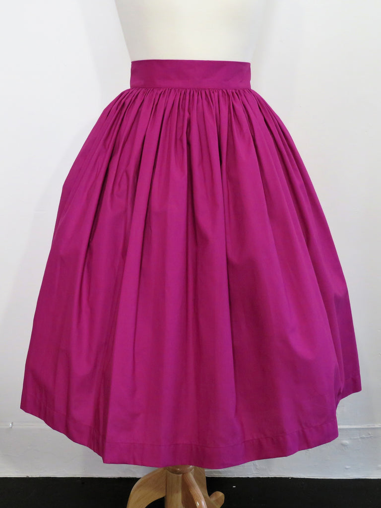 Skirt in Plum Cotton