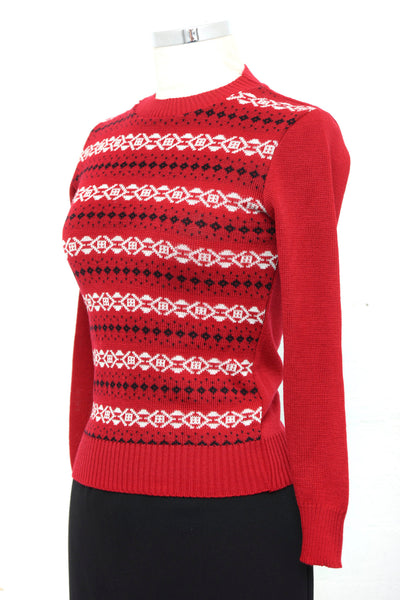Nordic Jumper In Red