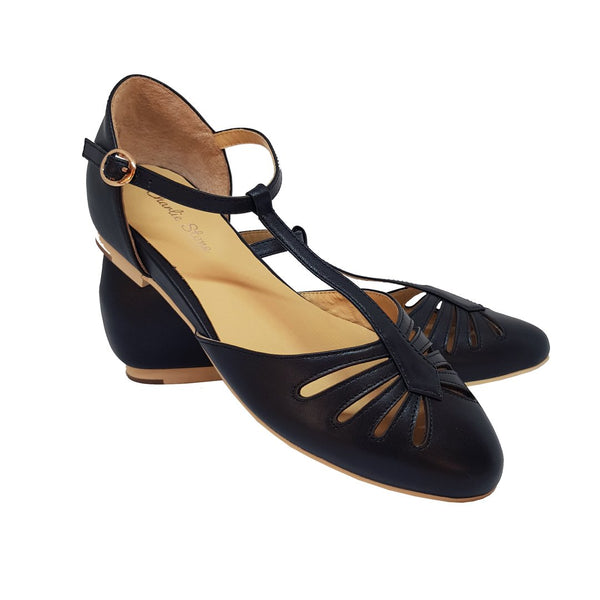 Charlie Stone Shoes-Singapore Black - Flats