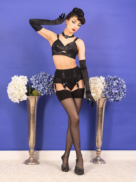 What Katie Did-Seamed Stockings Black Glamour