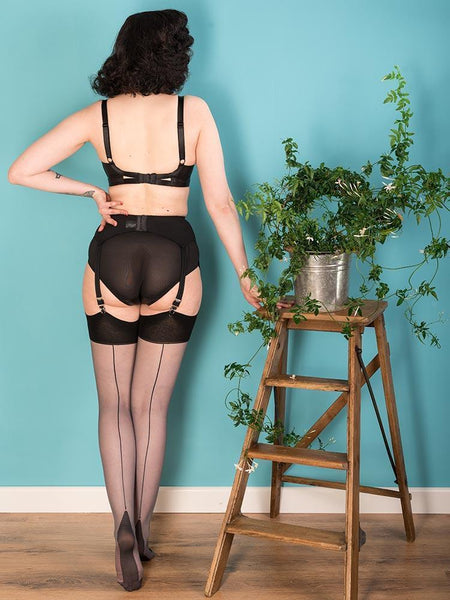 SEAMED STOCKINGS GREY GLAMOUR