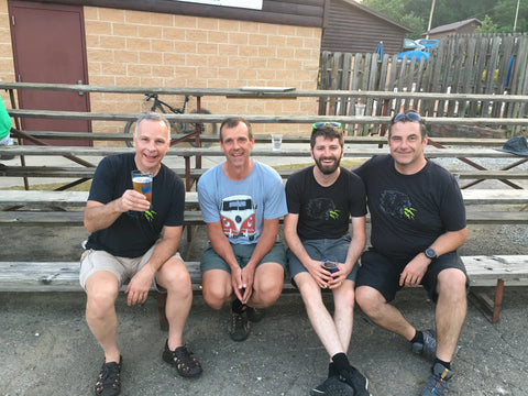 Dave, Gary, Andrew and Stuart all finished the Mohican 100