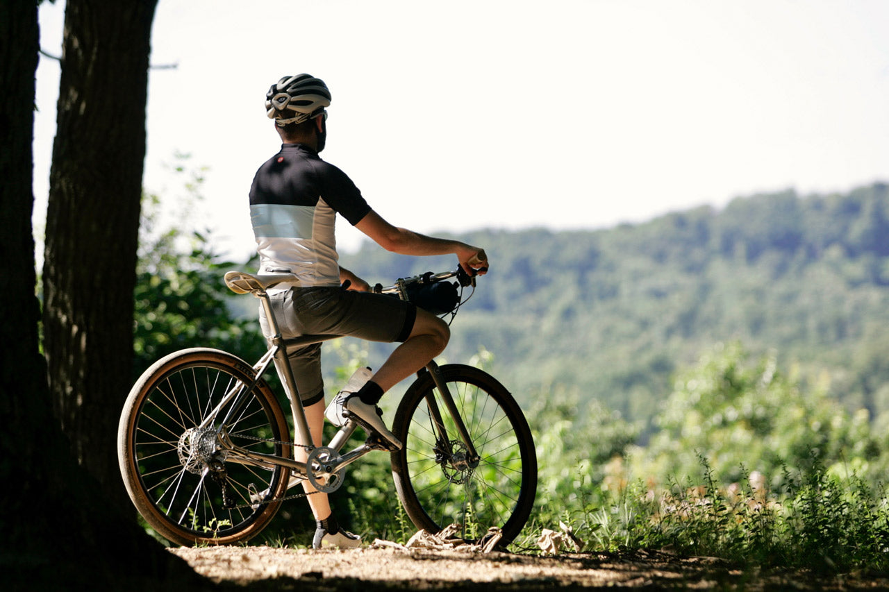 roll: Bicycle Company GR:1 Gravel Road Bike out on the trail in the Hocking Hills State Forest