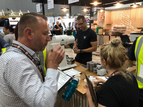 BeanGiving's Head of Coffee Judging at MICE