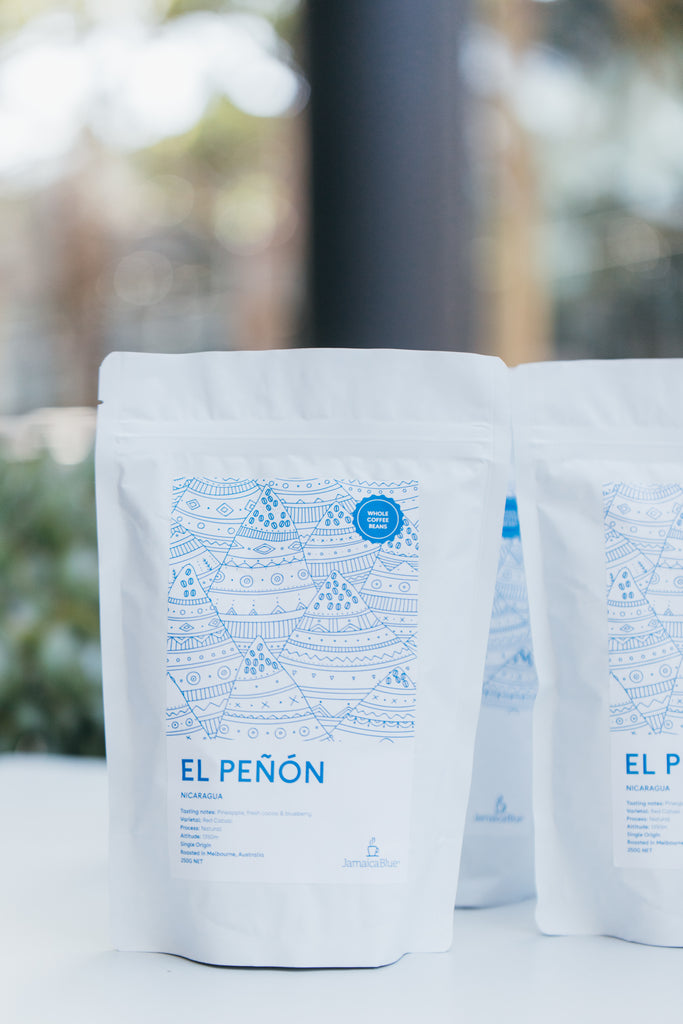 Jamaica Blue Summer Single Origin - El Peñón- Nicaragua - Whole Coffee Beans 2 x 250gram bag