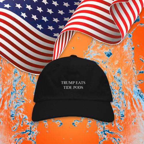 Trump Eats Tide Pods (Black)
