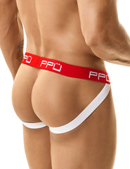 PPU - Cotton Jockstrap (Gray-Red)