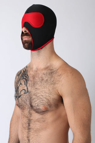 BC13 - Riot Big Mouth Hood (RED/BLACK)