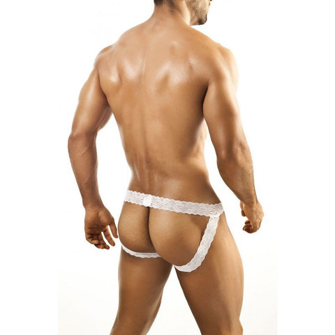 Joe Snyder — Lace Jockstrap (White)