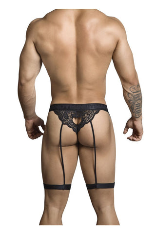 CandyMan - Seductive Lace Thong (Black)