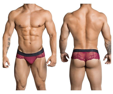 CandyMan - Mistress Lace Thong (Burgundy)