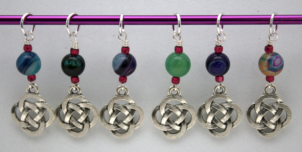 Five Fold Celtic Knot Stitch Markers