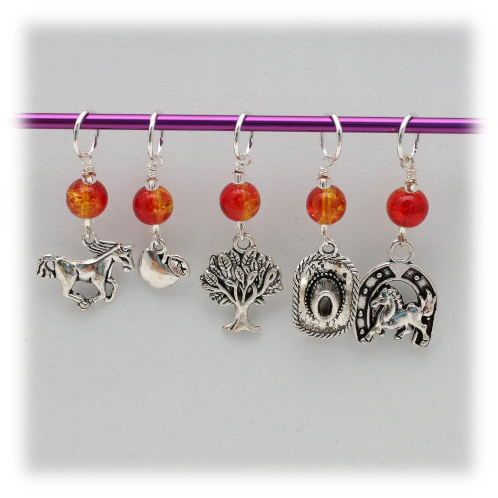 Apple Pony Stitch Marker Set