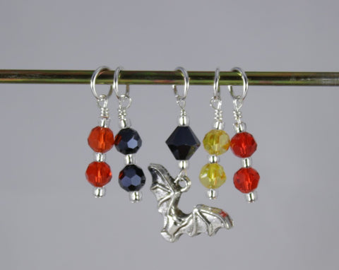 Halloween Bat Stitch Marker Set