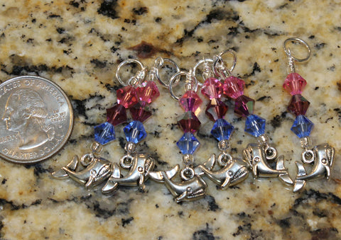 Whale Stitch Marker Set