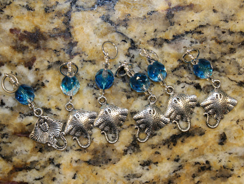Blue Stingray Stitch Marker Set