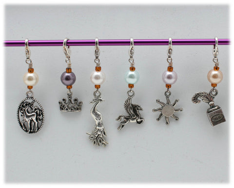 Sun Pony Stitch Marker Set