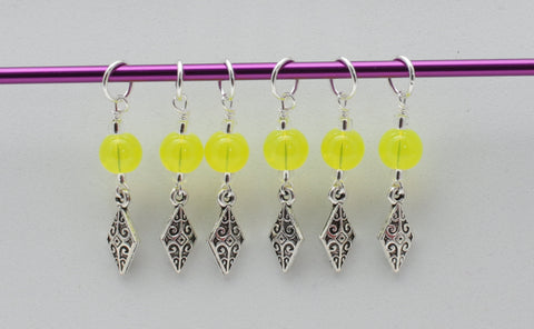 Filigree Diamond Stitch Markers