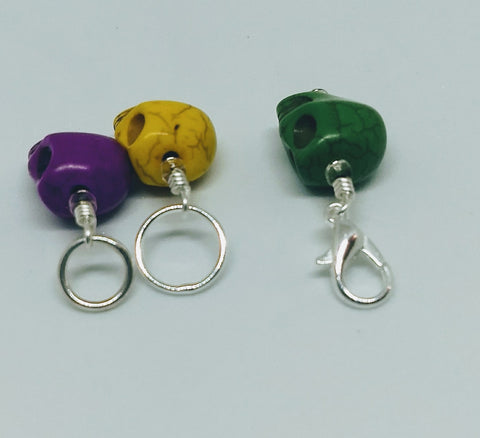 3D Skull Stitch Marker Set