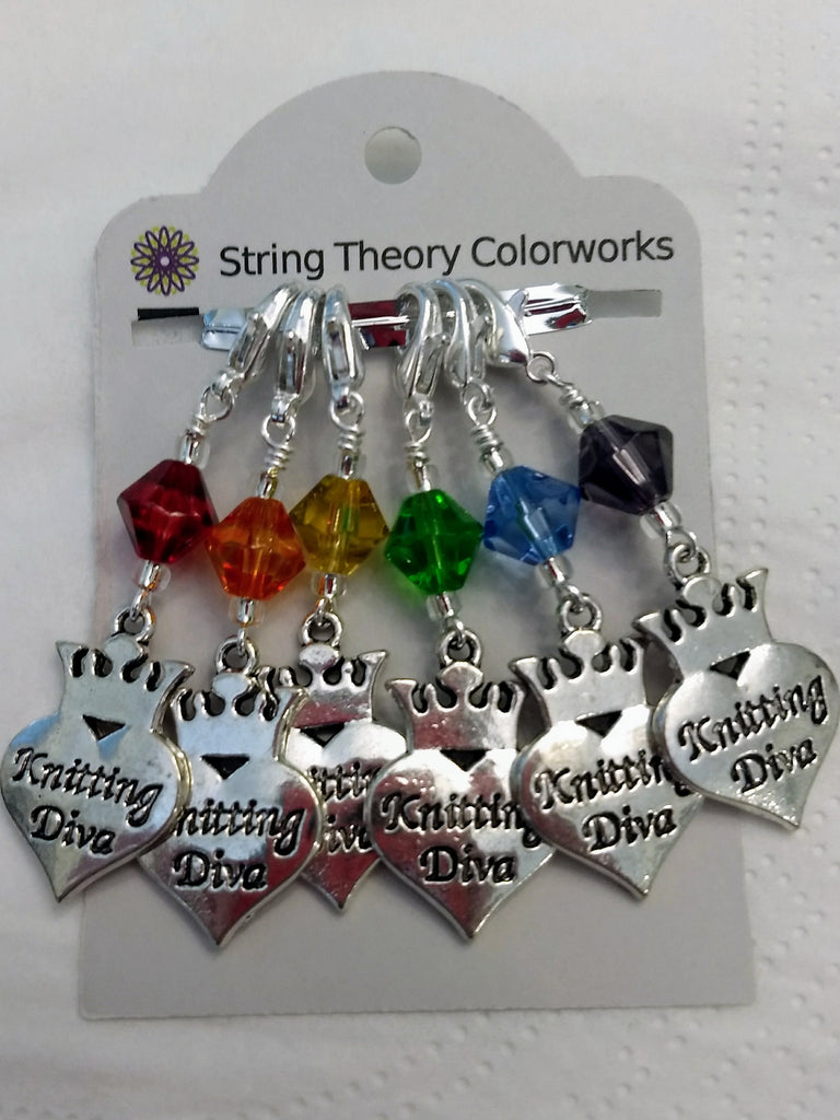Knitting Diva Rainbow Stitch Marker Set