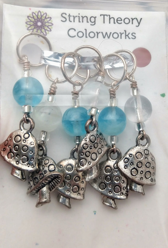 Glow in the Dark Mushroom Stitch Marker Set