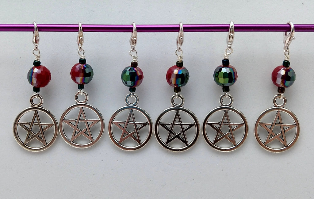 Devil's Trap Stitch Markers