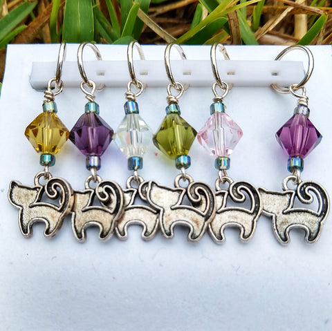 Happy Cat Stitch Markers
