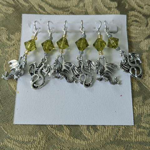 Here There Be Dragons Stitch Markers