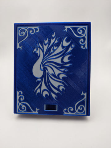 3D printed Notions Box--Peacock