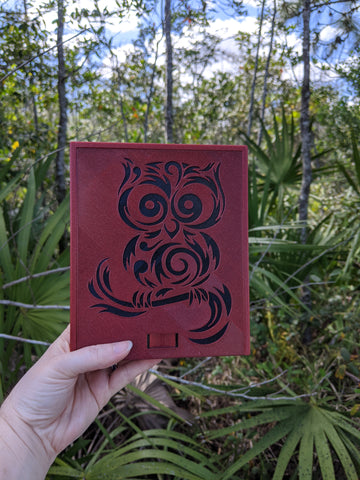 3D printed Notions Box--Owl