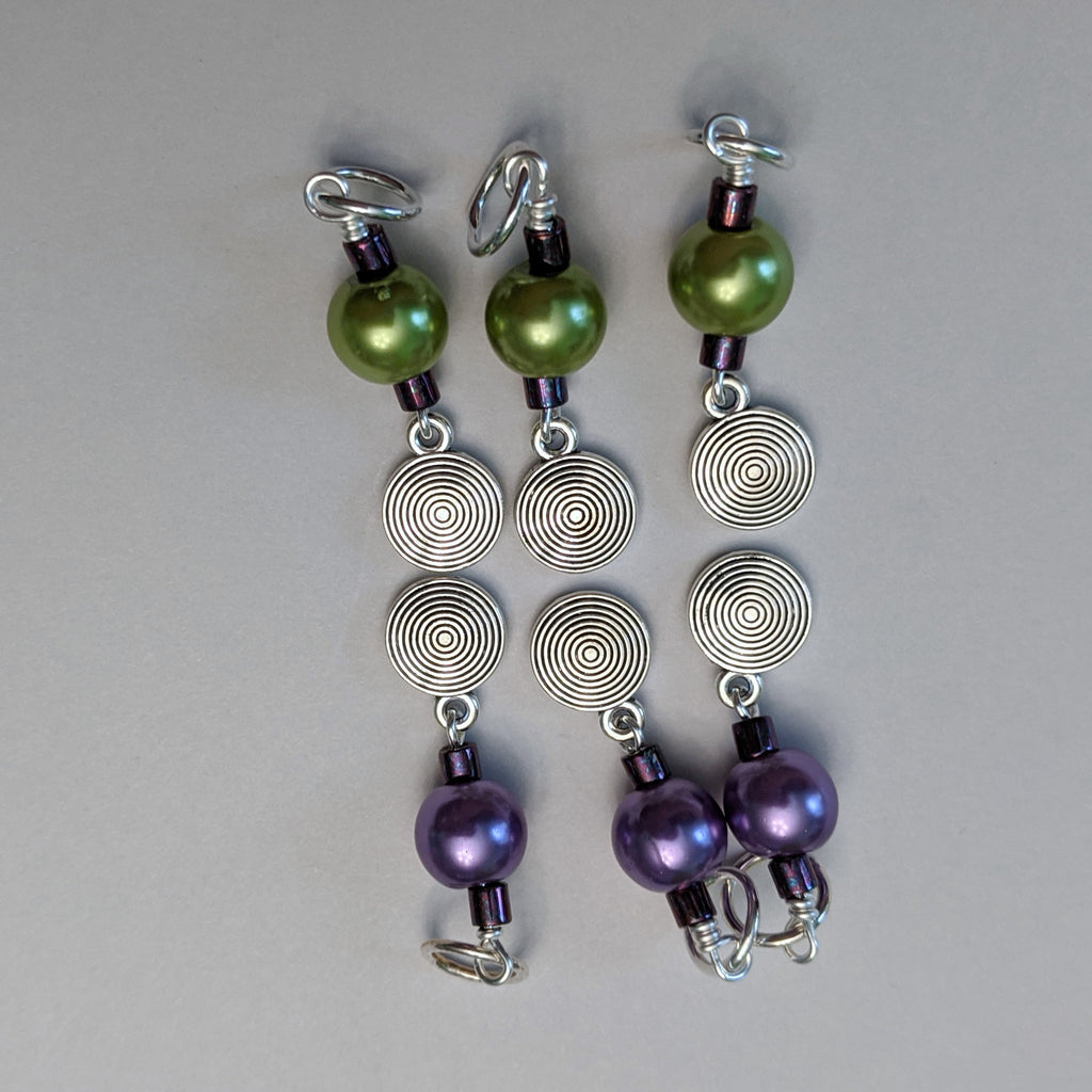 Swirl Disc Stitch Markers