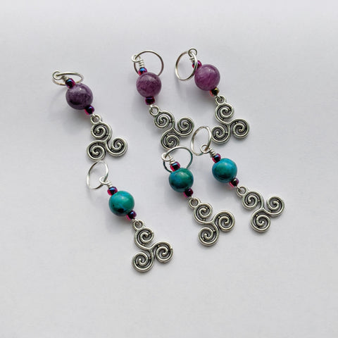 Triswirl Stitch Markers (S6)