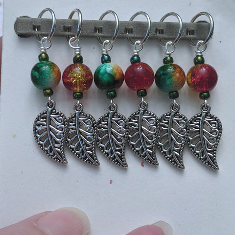 Autumnal Leaves Stitch Markers (S9)