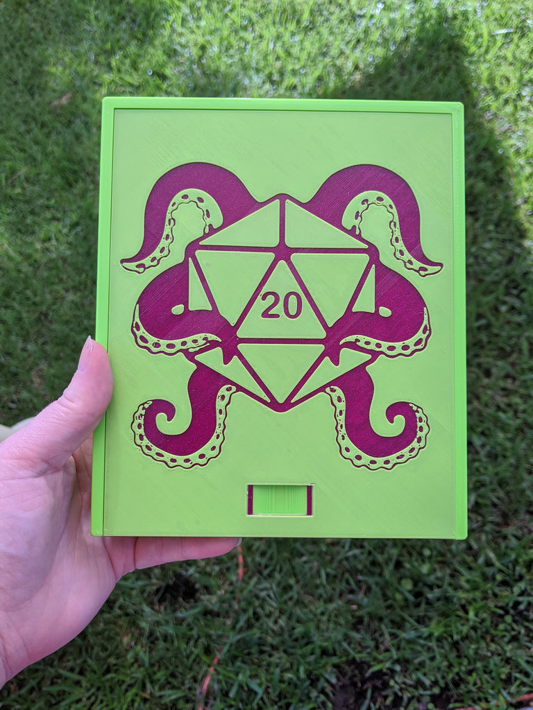 3D printed Notions Box--Tentacle D20