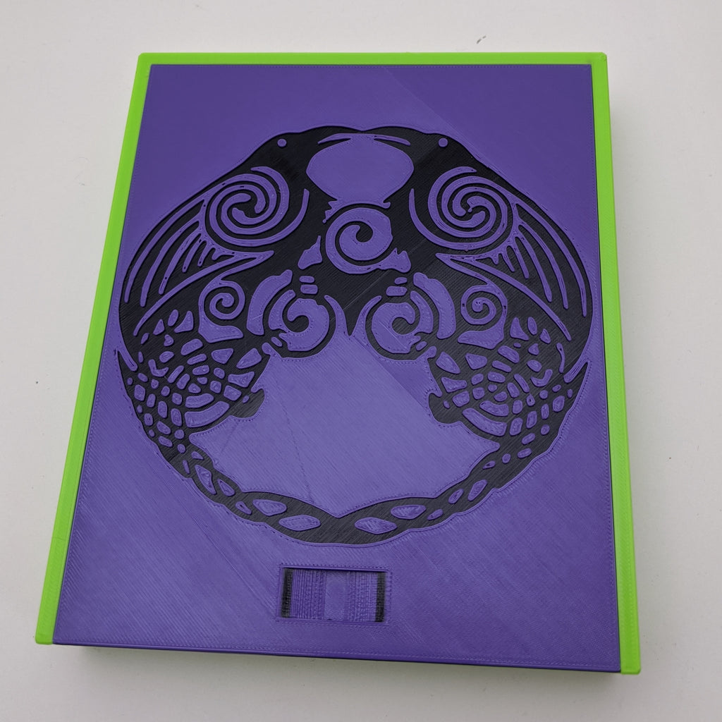 3D printed Notions Box--Celtic Knot Ravens