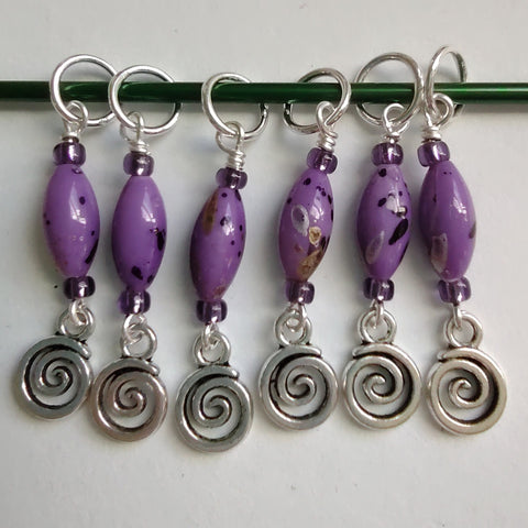 Swirl Stitch Marker Set