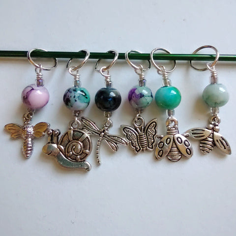 Watercolor Garden Friends Stitch Markers