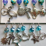 Tropical Beach Stitch Markers