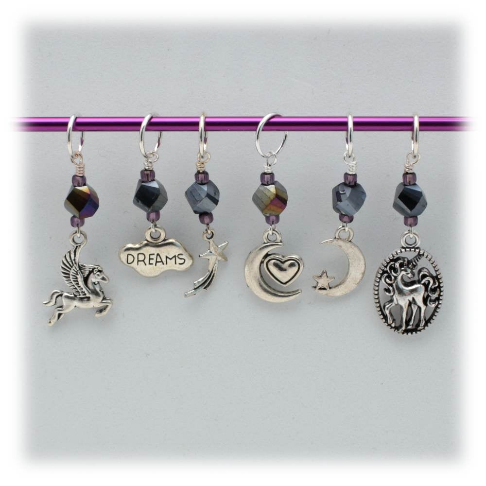 Moon Dream Pony Stitch Marker Set