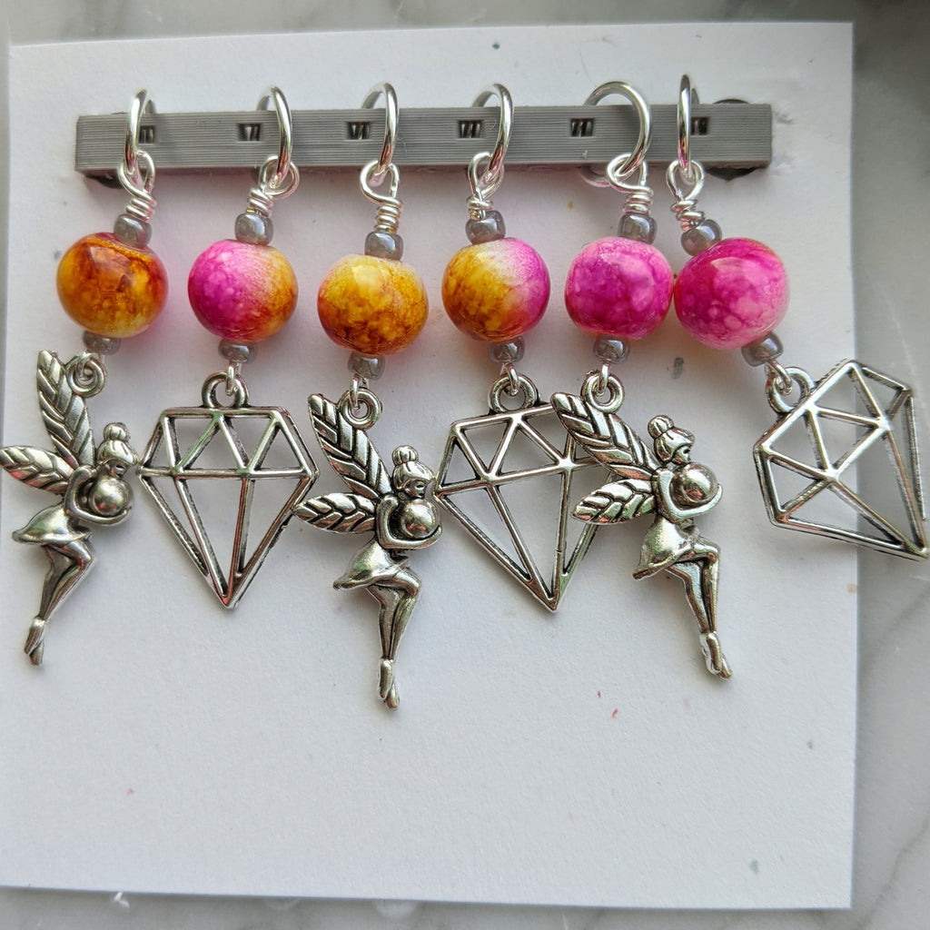 Fairy Gems Stitch Markers