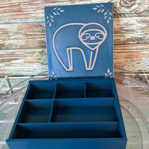 3D printed Notions Box--Sloth