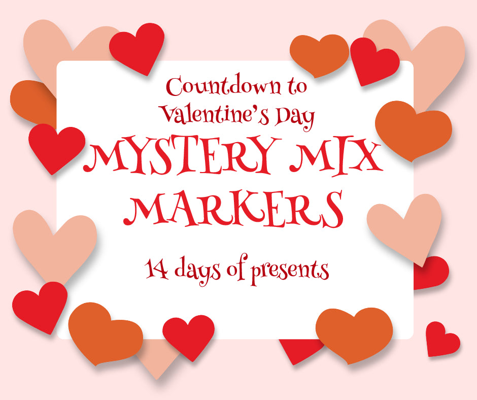 14 days of Valentine's Mystery Stitch Markers