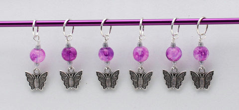 Etched Butterfly Stitch Markers