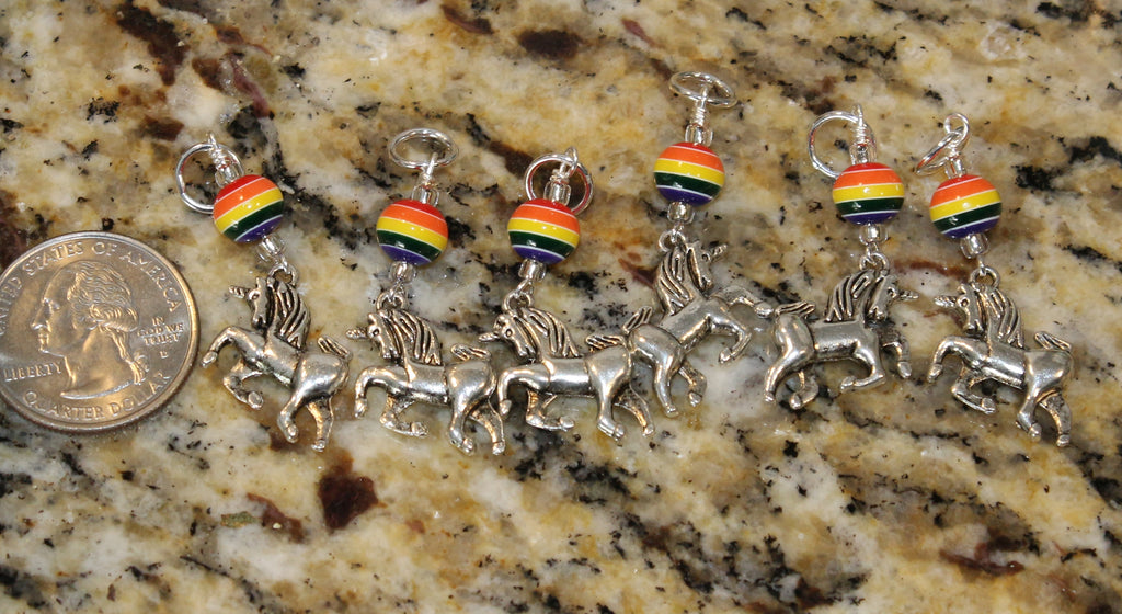 Rainbow Unicorn Stitch Marker Set