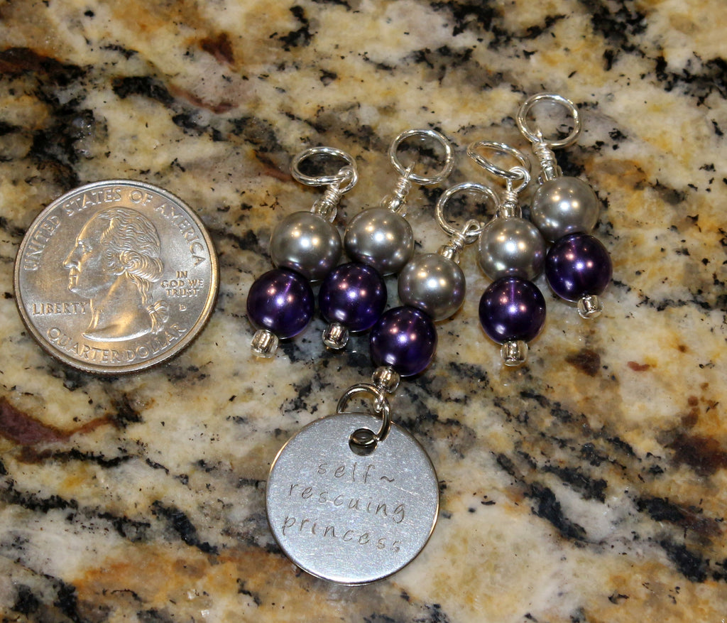 Self rescuing Princess Stitch Marker Set