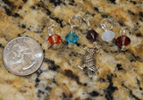 Southwest Raven Stitch Marker Set