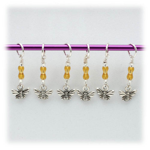 Tiny Bee Stitch Marker Set