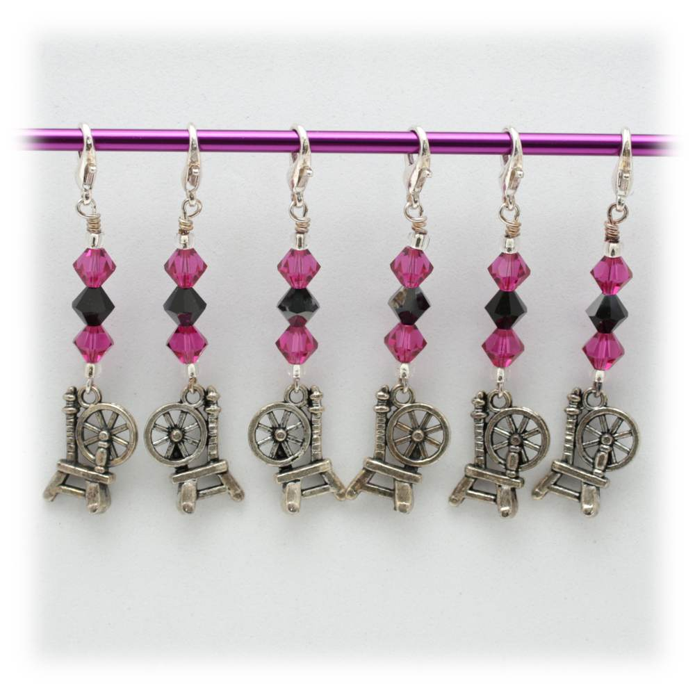 Spinning Wheel Stitch Marker Set